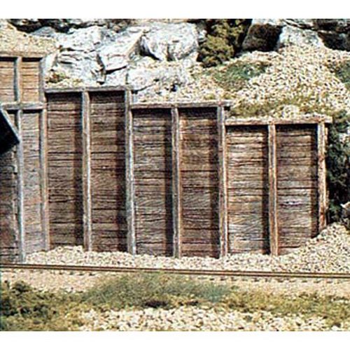 Woodland Scenics C1260 HO Three Timber Retaining Walls