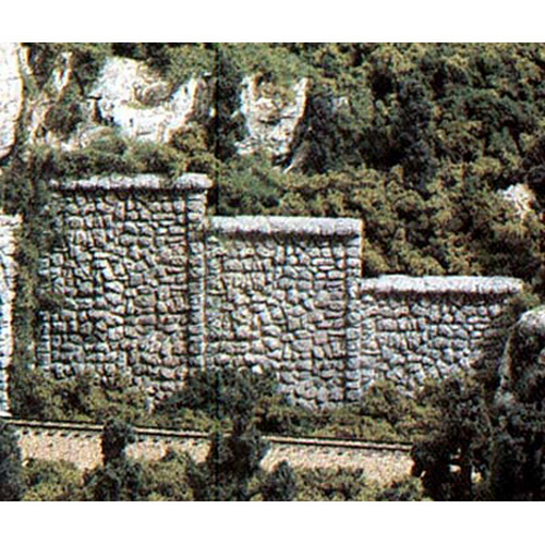 Woodland Scenics C1261 HO Random Stone Retaining Walls (3)