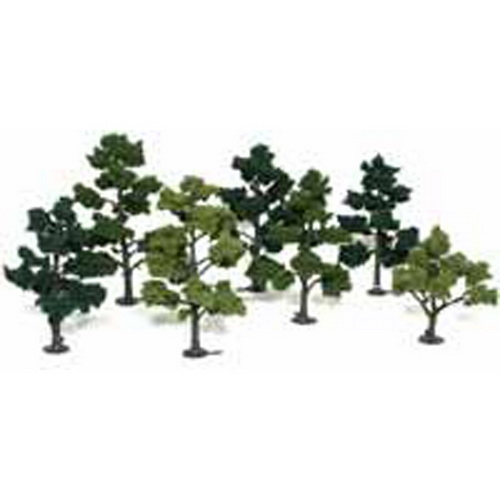 Woodland Scenics TR1103 5 -7  Assorted Green Large Deciduous Model Tre Here is a Woodland Scenics TR1103 Realistic Tree Kit. Includes 7 five to seven inch trees, three shades of foliage, and printed instructions on the reverse side of the package. Woodland Scenics Realistic Tree Kits are a must for hobbyists and model builders. Each kit comes with a variety of armature sizes and patented Clump-Foliage. The trees are easy to build. The armatures are bendable at room temperature and will not spring back to the original shape. The kits come with a pin on the bottom of the trunk for permanent planting. An optional base for temporary placement is provided as well.Condition: Factory New (C-9All original; unused; factory rubs and evidence of handling, shipping and factory test run.Standards for all toy train related accessory items apply to the visual appearance of the item and do not consider the operating functionality of the equipment.Condition and Grading Standards are subjective, at best, and are intended to act as a guide. )Operational Status: FunctionalThis item is brand new from the factory.Original Box: Yes (P-9May have store stamps and price tags. Has inner liners.)Manufacturer: Woodland ScenicsModel Number: TR1103Years Manufactured: 1996 - ????MSRP: $19.99Category 1: Scenery & MaterialsCategory 2: Trees & ShrubberyAvailability: Ships in 3 to 5 Business Days.The Trainz SKU for this item is P11422610. Track: 11422610 - FS - 001 - TrainzAuctionGroup00UNK - TDIDUNK