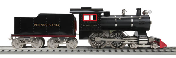 MTH 11-10191 TP Pennsylvania #6 Steam Locomotive & Tender w/PS2.0 This is MTH 11-1019-1 TP Pennsylvania #6 Steam Loco/2.0. No. 6 steam engine with Proto-Sound 2.0, Pennsylvania. A thing of beauty and a joy forever, the No. 6 steam locomotive made its debut in Lionel's 1906 catalog as the most perfect miniature model ever placed on sale. Built along the lines of the newest powerful express passenger locomotives, the No. 6 featured a 4-4-0 wheel arrangement-known as the American. Since this arrangement was widespread at the beginning of the 20th century, Lionel, not surprisingly chose to base their toys off of this popular model.Built with the same care as the No. 5, these locomotives were equipped with a 4-wheel pilot truck, electric headlight, and reinforced phosphor bronze bearings. These features made for a durable outfit that would last indefinitely. Lionel earnestly recommended these locomotives for those desiring a piece for a show window display, or for the added attraction to a showroom, or for a toy that is incomparable and will be appreciated all the time. Proving that a Lionel locomotive crossed over all boarders of model railroading enthusiasts. From the experienced show room owner, to the seller, to the child themselves these versatile locomotives were featured in the catalog until 1923.Be at the forefront of American ingenuity in model railroading with the No. 6 Lionel Corporation steam locomotives. Paired with a 3-piece Pullman car set, including baggage and observation car, this set comes richly enameled and striped with gold lettering. Metal wheels and axles, overhead interior lighting, colorful, attractive paint schemes, detailed car interiors, baked enamel finish, stamped steel bodies and chassis's, and operating latch couplers, bring these cars into the 21st century while still maintaining the look and feel of the original. Operators looking for a more modern feel may find the contemporary version of this locomotive, feat
