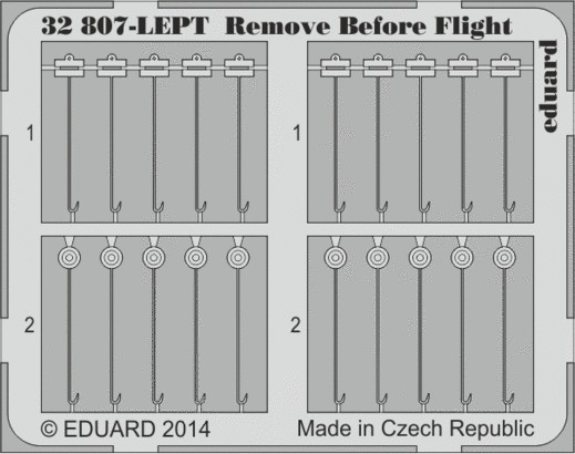 Eduard 32807 1:32 Aircraft Remove Before Flight Fabric