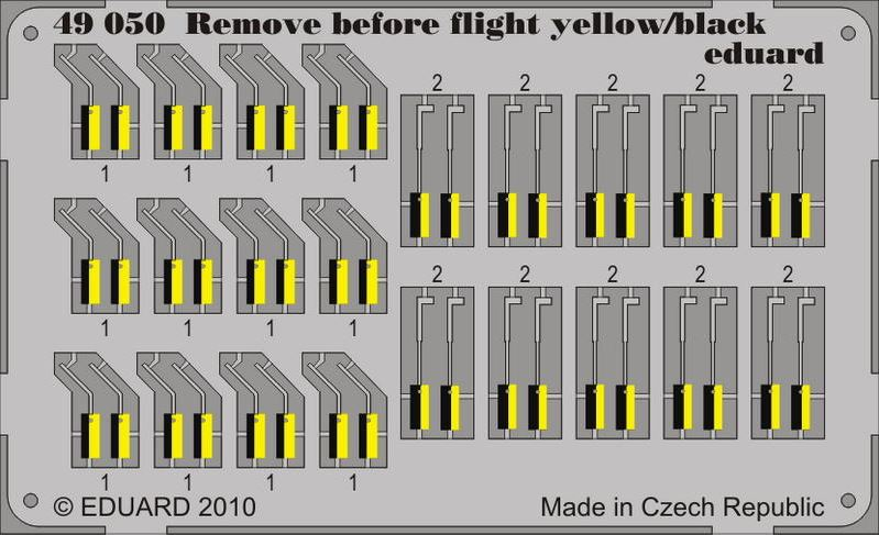 Eduard 49050 1:48 Remove Before Flight Yellow/Black for Aircraft (Pain