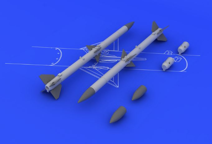 Eduard 648084 1:48 AIM-120A/B AMRAAM for Aircraft (2pcs.) (Photo-Etche This is an Eduard 648084 1:48 AIM-120A/B AMRAAM for Aircraft (2pcs.) (Photo-Etched & Resin). Products: Brassin, Type: Aircraft, Tags: Armament & Missiles, and Weight: 0.044 kg.Condition: Factory NewOperational Status: FunctionalThis item is brand new from the factory.Original Box: YesManufacturer: EduardModel Number: 648084MSRP: $12.95Category 1: AccessoriesCategory 2: OtherAvailability: Ships in 3 to 5 Business Days.The Trainz SKU for this item is P12039752. Track: 12039752 - FS - 001 - TrainzAuctionGroup00UNK - TDIDUNK