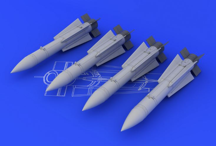 Eduard 648107 1:48 AIM-54C Phoenix for Aircraft (Resin & Decals) This is an Eduard 648107 1:48 AIM-54C Phoenix for Aircraft (Resin & Decals). Brassin set of 4 missiles consists of two parts each (main missile body with wings and a separate tail). Products: Brassin, Type: Aircraft, Tags: Armament & Missile, and Weight: 0.092 kg.Condition: Factory NewOperational Status: FunctionalThis item is brand new from the factory.Original Box: YesManufacturer: EduardModel Number: 648107MSRP: $14.95Category 1: AccessoriesCategory 2: OtherAvailability: Ships in 3 to 5 Business Days.The Trainz SKU for this item is P12041635. Track: 12041635 - FS - 001 - TrainzAuctionGroup00UNK - TDIDUNK