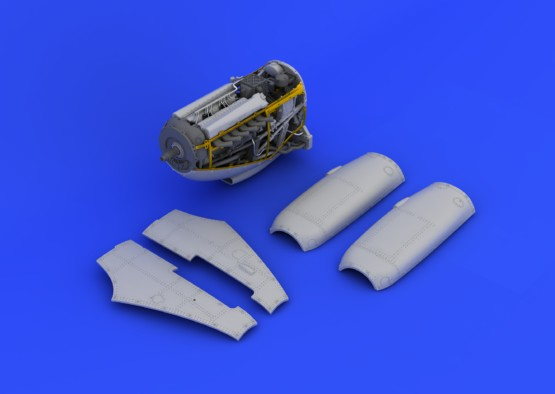 Eduard 648112 1:48 Spitfire Mk.IX Engine for Eduard Aircraft (Photo-Et This is an Eduard 648112 1:48 Spitfire Mk.IX Engine for Eduard Aircraft (Photo-Etched & Resin). This is recommended for Eduard Kit. Brassin set for Spitfire Mk.IX in 1/48 contains complete Rolls Royce engine for Spitfire, including main engine mounting and engine housing. Upper cowling comes in two variants - early and late. Photo-etched details are included within this Brassin set. Products: Brassin, Type: Aircraft, Tag: Engine, and Weight: 0.094 kg.Condition: Factory NewOperational Status: FunctionalThis item is brand new from the factory.Original Box: YesManufacturer: EduardModel Number: 648112MSRP: $44.95Category 1: AccessoriesCategory 2: OtherAvailability: Ships in 3 to 5 Business Days.The Trainz SKU for this item is P12015156. Track: 12015156 - FS - 001 - TrainzAuctionGroup00UNK - TDIDUNK