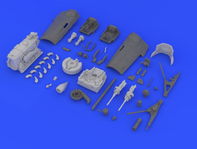 Eduard 648141 1:48 Bf 109G-6 Engine & Guns for Eduard Aircraft (Photo- This is an Eduard 648141 1:48 Bf 109G-6 Engine & Guns for Eduard Aircraft (Photo-Etched & Resin). This is recommended for Eduard Kit. This features engine bearings and engine / guns cowlings included, resin parts, PE parts, and decals. Products: Brassin, Type: Aircraft, Tag: Armament, Engine, & Guns and Weight: 0.098 kg.Condition: Factory NewOperational Status: FunctionalThis item is brand new from the factory.Original Box: YesManufacturer: EduardModel Number: 648141MSRP: $39.95Category 1: AccessoriesCategory 2: OtherAvailability: Ships in 3 to 5 Business Days.The Trainz SKU for this item is P12015154. Track: 12015154 - FS - 001 - TrainzAuctionGroup00UNK - TDIDUNK