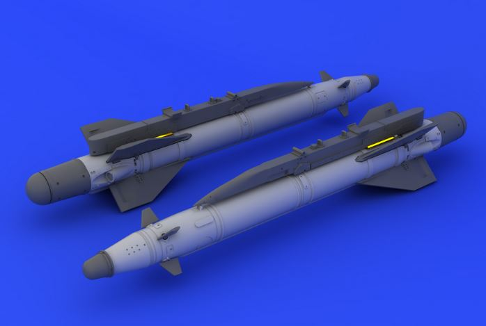 Eduard 648160 1:48  Kh-25ML Missile for Aircraft (Photo-Etched & Resin This is an Eduard 648160 1:48 Kh-25ML Missile for Aircraft (Photo-Etched & Resin). Products: Brassin, Type: Aircraft, Tags: Armament & Missiles, and Weight: 0.046 kg.Condition: Factory NewOperational Status: FunctionalThis item is brand new from the factory.Original Box: YesManufacturer: EduardModel Number: 648160MSRP: $12.95Category 1: AccessoriesCategory 2: OtherAvailability: Ships in 3 to 5 Business Days.The Trainz SKU for this item is P12040211. Track: 12040211 - FS - 001 - TrainzAuctionGroup00UNK - TDIDUNK