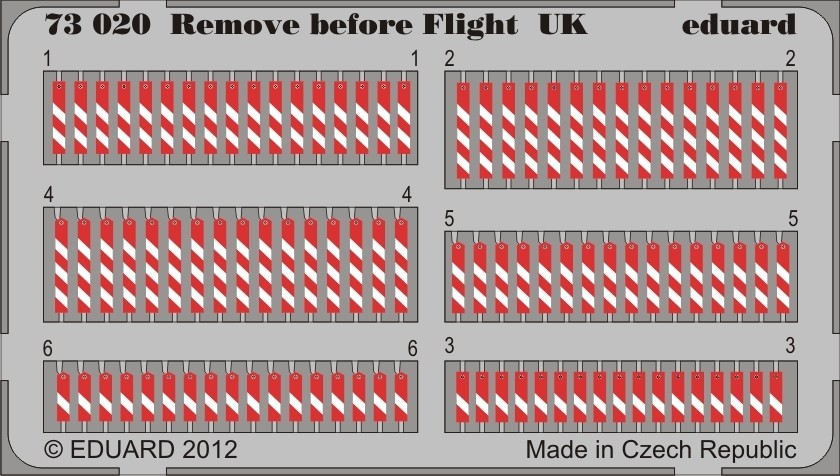 Eduard 73020 1:72 Remove Before Flight UK for Aircraft (Painted)