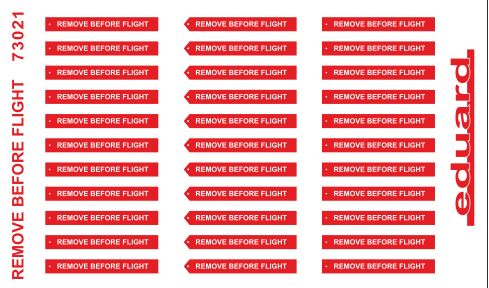 Eduard 73021 1:72 Remove Before Flight SUPERFABRIC for Aircraft (Paint