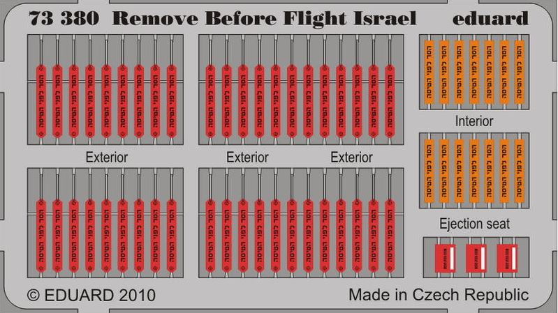 Eduard 73380 1:72 Remove Before Flight Israel for Aircraft (Painted)