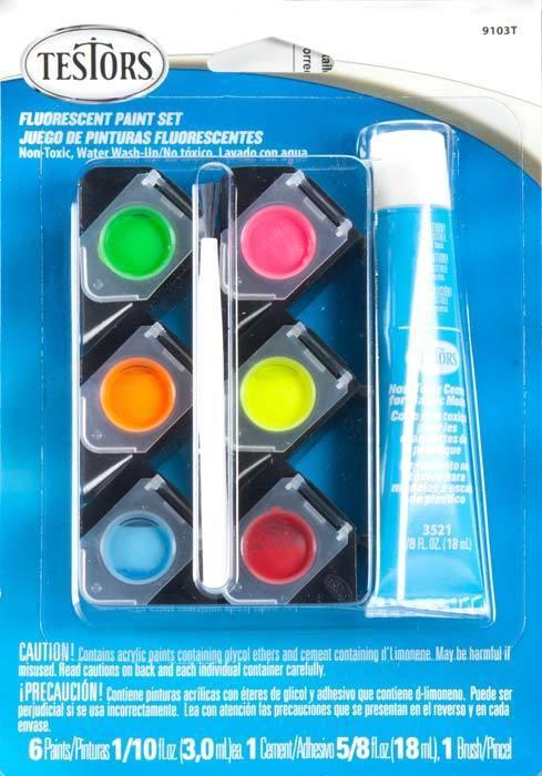 Testors 9103T Acrylic Fluorescent Paint Set