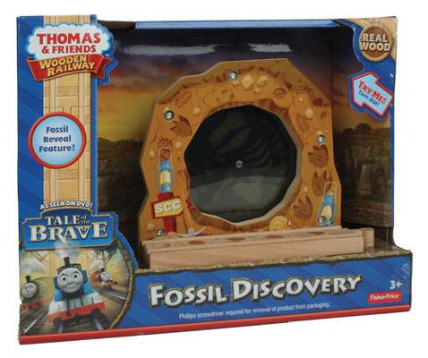 Fisher Price BDG55 Thomas & Friends Wooden Railway Fossil Discovery This is a Fisher Price BDG55 Thomas & Friends™ Wooden Railway Fossil Discovery. Add a fossil-finding adventure to any Thomas & Friends™ Wooden Railway track. Turn the dial and it reveals cool dinosaur fossils inside! Inspired by the Tale of the Brave movie.Condition: Factory New (C-9All original; unused; factory rubs and evidence of handling, shipping and factory test run.Standards for all toy train related accessory items apply to the visual appearance of the item and do not consider the operating functionality of the equipment.Condition and Grading Standards are subjective, at best, and are intended to act as a guide. )Operational Status: FunctionalThis item is brand new from the factory.Original Box: Yes (P-9May have store stamps and price tags. Has inner liners.)Manufacturer: Fisher PriceModel Number: BDG55MSRP: $48.49Scale/Era: ThomasModel Type: Wooden TrainsAvailability: Ships in 2 Business Days!The Trainz SKU for this item is P12002717. Track: 12002717 - No Location Assigned - 001 - TrainzAuctionGroup00UNK - TDIDUNK