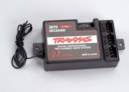 Traxxas 2019 Receiver, 2-channel 27MHz, without BEC Traxxas 2019 Receiver, 2-channel 27MHz, without BEC. Features: For use with electronic speed control. Mounting tabs on either side insure secure attachment to chassis.Condition: Factory NewOperational Status: FunctionalThis item is brand new from the factory.Original Box: YesManufacturer: TraxxasModel Number: 2019MSRP: $28.00Category 1: Other ToysCategory 2: Radio Control ToysAvailability: Ships in 3 to 5 Business Days.The Trainz SKU for this item is P12071430. Track: 12071430 - FS - 001 - TrainzAuctionGroup00UNK - TDIDUNK