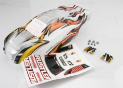 Traxxas 3717 Prographix Body with Decals: Rustler This is a Traxxas 3717 Prographix Body with Decals: Rustler. Features: From mild to wild, choose your own color and personalize your body. The detailed graphics are fully painted, but the rest of the body is clear, so you can choose your own main body color. Simply grab a can of paint and spray the final color. It's easy for anyone to get instant, professional results. The bodies are completely trimmed and include the body post holes for easy installation on the chassis.Condition: Factory NewOperational Status: FunctionalThis item is brand new from the factory.Original Box: YesManufacturer: TraxxasModel Number: 3717MSRP: $35.00Category 1: Other ToysCategory 2: Radio Control ToysAvailability: Ships in 1 Business Day!The Trainz SKU for this item is P12071545. Track: 12071545 - No Location Assigned - 001 - TrainzAuctionGroup00UNK - TDIDUNK