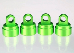 Traxxas 3767G Aluminum Shock Caps, Green (4): Fits All Ultra Shocks This is a Traxxas 3767G Aluminum Shock Caps, Green (4): Fits All Ultra Shocks. Features: Boost durability as you dress up your Traxxas model with anodized style! These aluminum shock caps are an ideal accessory for all Traxxas models equipped with Ultra Shocks—Slash, Bandit, Nitro Sport, Stampede series, Rustler series, and all Maxx trucks! The machined caps fit precisely and hold tight, run after run, jump after jump. The caps install in minutes and add instant style with their rich anodized finishes in vivid red, blue or green. Each Genuine Traxxas Accessory package includes four shock caps.Condition: Factory NewOperational Status: FunctionalThis item is brand new from the factory.Original Box: YesManufacturer: TraxxasModel Number: 3767GMSRP: $14.00Category 1: Other ToysCategory 2: Radio Control ToysAvailability: Ships in 3 to 5 Business Days.The Trainz SKU for this item is P12071558. Track: 12071558 - FS - 001 - TrainzAuctionGroup00UNK - TDIDUNK