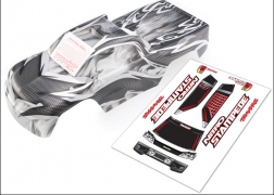 Traxxas 4111R ProGraphix Body with Decal Sheet: Nitro Stampede 2.5 This is a Traxxas 4111R ProGraphix Body with Decal Sheet: Nitro Stampede 2.5. Features: From mild to wild, choose your own color and personalize your body. The detailed graphics are fully painted, but the rest of the body is clear, so you can choose your own main body color. Simply grab a can of paint and spray the final color. It's easy for anyone to get instant, professional results. The bodies are completely trimmed and include the body post holes for easy installation on the chassis.Condition: Factory NewOperational Status: FunctionalThis item is brand new from the factory.Original Box: YesManufacturer: TraxxasModel Number: 4111RMSRP: $34.99Category 1: Other ToysCategory 2: Radio Control ToysAvailability: Ships in 3 to 5 Business Days.The Trainz SKU for this item is P12071593. Track: 12071593 - FS - 001 - TrainzAuctionGroup00UNK - TDIDUNK