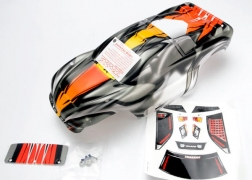 Traxxas 4411R ProGraphix Body with Lights Decal Sheet: Nitro Rustler 2 This is a Traxxas 4411R ProGraphix Body with Lights Decal Sheet: Nitro Rustler 2.5. Features: From mild to wild, choose your own color and personalize your body. The detailed graphics are fully painted, but the rest of the body is clear, so you can choose your own main body color. Simply grab a can of paint and spray the final color. It's easy for anyone to get instant, professional results. The bodies are completely trimmed and include the body post holes for easy installation on the chassis.Condition: Factory NewOperational Status: FunctionalThis item is brand new from the factory.Original Box: YesManufacturer: TraxxasModel Number: 4411RMSRP: $35.00Category 1: Other ToysCategory 2: Radio Control ToysAvailability: Ships in 1 Business Day!The Trainz SKU for this item is P12071612. Track: 12071612 - No Location Assigned - 001 - TrainzAuctionGroup00UNK - TDIDUNK