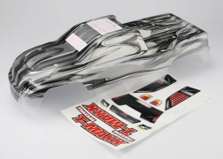 Traxxas 4921X Pro Graphix Body with Decal: 4908 T-Maxx 3.3 This is a Traxxas 4921X Pro Graphix Body with Decal: 4908 T-Maxx 3.3. Features: The detailed graphics are fully painted, but the rest of the body is clear, so you can choose your own main body color. Simply grab a can of paint and spray the final color. It's easy for anyone to get instant, professional results. The bodies are completely trimmed and include the body post holes for easy installation on the chassis.Condition: Factory NewOperational Status: FunctionalThis item is brand new from the factory.Original Box: YesManufacturer: TraxxasModel Number: 4921XMSRP: $34.99Category 1: Other ToysCategory 2: Radio Control ToysAvailability: Ships in 3 to 5 Business Days.The Trainz SKU for this item is P12071645. Track: 12071645 - FS - 001 - TrainzAuctionGroup00UNK - TDIDUNK