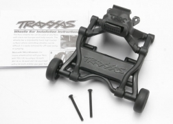 Traxxas 5472 Assembled Wheelie Bar: Revo, E-Revo This is a Traxxas 5472 Assembled Wheelie Bar: Revo, E-RevoFeatures: The accessory Revo wheelie bar assembly features a unique quick release design that is compatible with Revo trucks, nitro and electric. The wheelie bar assembly is easy to install for controlled wheelies on demand. Four snap-in adjustment positions allow you to choose how extreme you want your wheelie action to be. When it is time to head off-road, a convenient quick release tab makes removal and installation a snap. The wheelie bar mount is compatible with all factory Revo configurations, including sway bars and wing mounts.Condition: Factory NewOperational Status: FunctionalThis item is brand new from the factory.Original Box: YesManufacturer: TraxxasModel Number: 5472MSRP: $20.00Category 1: Other ToysCategory 2: Radio Control ToysAvailability: Ships in 3 to 5 Business Days.The Trainz SKU for this item is P12071827. Track: 12071827 - FS - 001 - TrainzAuctionGroup00UNK - TDIDUNK