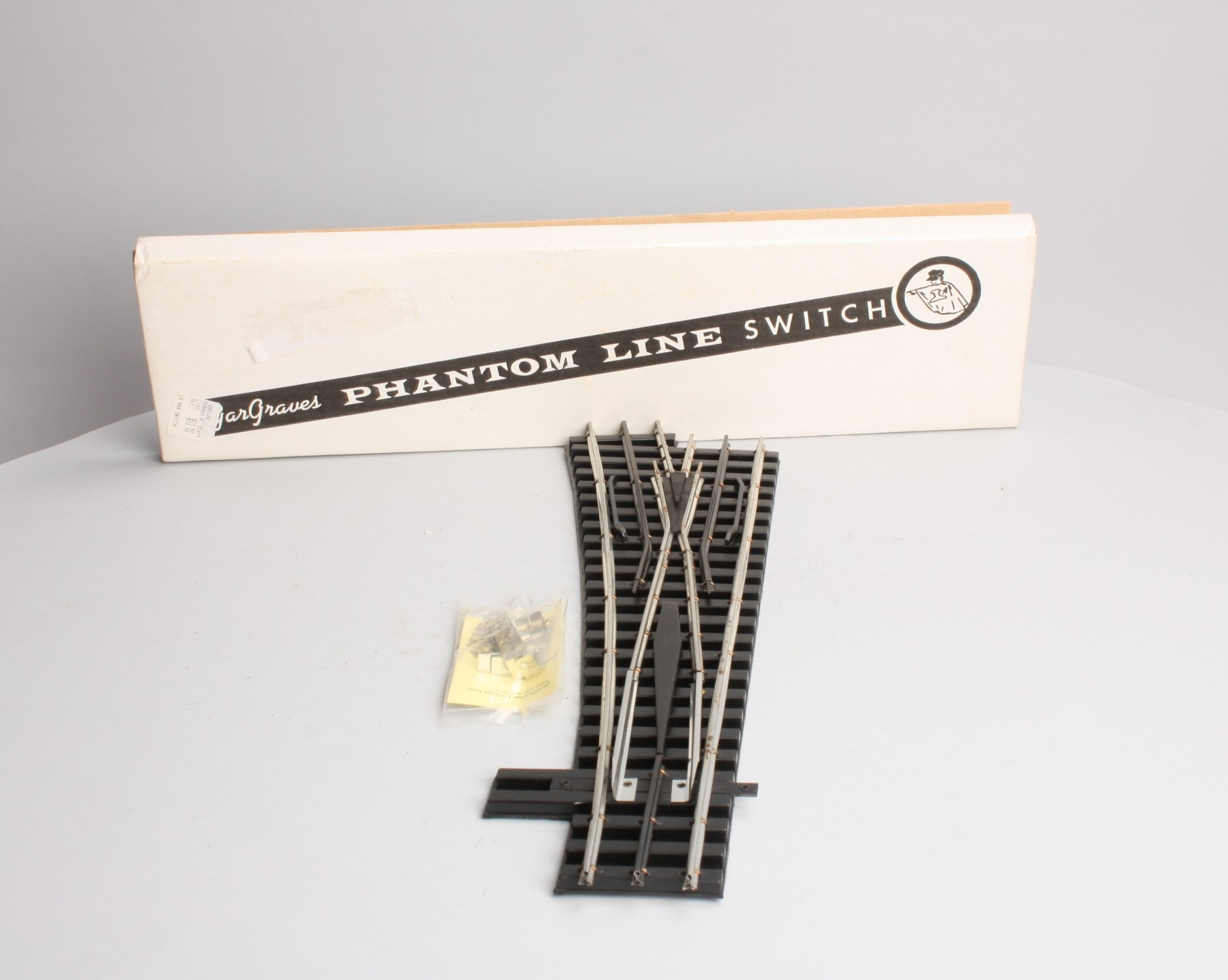 "Gargraves 104 O Gauge 3 Rail Left Hand Phantom Tinplate 100"" Wide Radius Manual Switch at Sears.com"