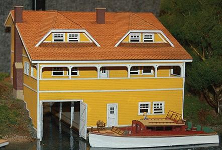 GCLaser 1464 HO Boathouse - Kit (Laser-Cut Wood)