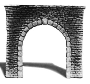 Pre-Size Model Specialities 483-203 Single Track Tunnel Portal Random