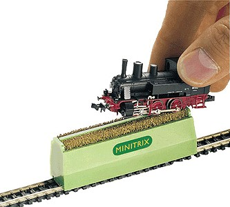 Trix 66623 N Locomotive Wheel Cleaning Brush Minitrix This is a Trix 66623 N Scale Locomotive Wheel Cleaning Brush - Minitrix 2-Rail. Model: This is a cleaning brush for cleaning locomotive wheels. It can be used for Minitrix and Märklin Mini-Club (Z Gauge) models. Clean wheels ensure good current conductivity and prevent interference with radio and television reception. This brush is also suitable for cleaning track.Condition: Factory New (C-9All original; unused; factory rubs and evidence of handling, shipping and factory test run.Standards for all toy train related accessory items apply to the visual appearance of the item and do not consider the operating functionality of the equipment.Condition and Grading Standards are subjective, at best, and are intended to act as a guide. )Operational Status: FunctionalThis item is brand new from the factory.Original Box: Yes (P-9May have store stamps and price tags. Has inner liners.)Manufacturer: TrixModel Number: 66623MSRP: $23.99Scale/Era: N ScaleModel Type: AccessoriesAvailability: Ships in 2 Business Days!The Trainz SKU for this item is P11538526. Track: 11538526 - 1007-D (Suite 2740-200)  - 001 - TrainzAuctionGroup00UNK - TDIDUNK