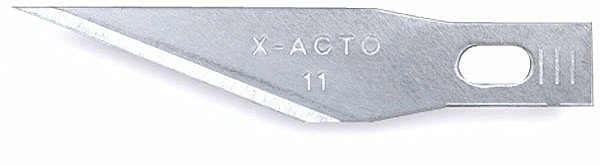 X-Acto 11 #11 Blade Tuck (5) This is a X-Acto 11 #11 Blade Tuck (5). The X-ACTO #11 Classic Fine Point knife blades are the perfect accessory to a true tool of precision. When elaborate, detailed cuts need to be made, the #11 blade is the one to choose. Because the blade is made with quality sharpened carbon and steel, you can make the most detailed and meticulous cuts knowing that the blade can stand up to the pressure. You won't have to worry about these blades chipping or snapping. The X-ACTO #11 Classic Fine Point knife blades are available with a unique, blade dispenser that allows you to easily access the next blade when it is time to switch, safely and without hassle.Condition: Factory NewOperational Status: FunctionalThis item is brand new from the factory.Original Box: YesManufacturer: X-ActoModel Number: 11MSRP: $3.00Category 1: Maintenance & SuppliesCategory 2: ToolsAvailability: Ships in 3 to 5 Business Days.The Trainz SKU for this item is P11543821. Track: 11543821 - FS - 001 - TrainzAuctionGroup00UNK - TDIDUNK