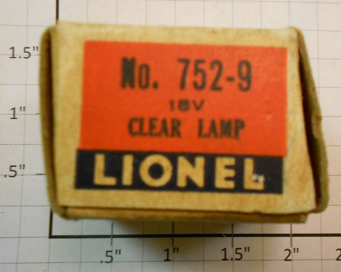 Lionel 752-9 18 Volt Clear Bulb in Separate Sale Box Condition: Part (N/ATrainz does not provide grading for parts.Standards for all toy train related accessory items apply to the visual appearance of the item and do not consider the operating functionality of the equipment.Condition and Grading Standards are subjective, at best, and are intended to act as a guide. )Operational Status: FunctionalThis part is in workable condition.Original Box: NoManufacturer: LionelModel Number: 752-9Category 1: PartsCategory 2: O ScaleAvailability: Ships in 3 Business Days!We are unable to provide parts lookup service or fitment assistance.The Trainz SKU for this item is P11663944. Track: 11663944 - Parts (1A13H) - 001 - TrainzAuctionGroup00UNK - TDIDUNK