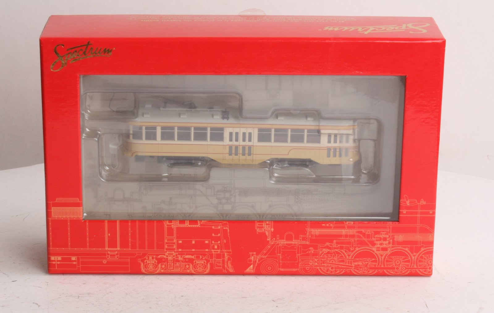 Bachmann 84608 Spectrum Cleveland Witt Street Car w/DCC Here is a Spectrum 84608 Cleveland Witt Street Car. This car fefatures a durable plastic shell, motor, sprung trolley pole, DCC-equipped for speed, direction, and lighting, full interior & lights, dual flywheels, overhead wire and track pickup, and metal wheels.Condition: Factory New (C-9All original; unused; factory rubs and evidence of handling, shipping and factory test run.Standards for all toy train related accessory items apply to the visual appearance of the item and do not consider the operating functionality of the equipment.Condition and Grading Standards are subjective, at best, and are intended to act as a guide. )Operational Status: FunctionalThis item is brand new from the factory.Original Box: Yes (P-9May have store stamps and price tags. Has inner liners.)Manufacturer: BachmannModel Number: 84608Road Name: UndecoratedMSRP: $189.00Scale/Era: HO ModernModel Type: Motorized UnitsAvailability: Ships in 3 to 5 Business Days.The Trainz SKU for this item is P11462642. Track: 11462642 - FS - 001 - TrainzAuctionGroup00UNK - TDIDUNK