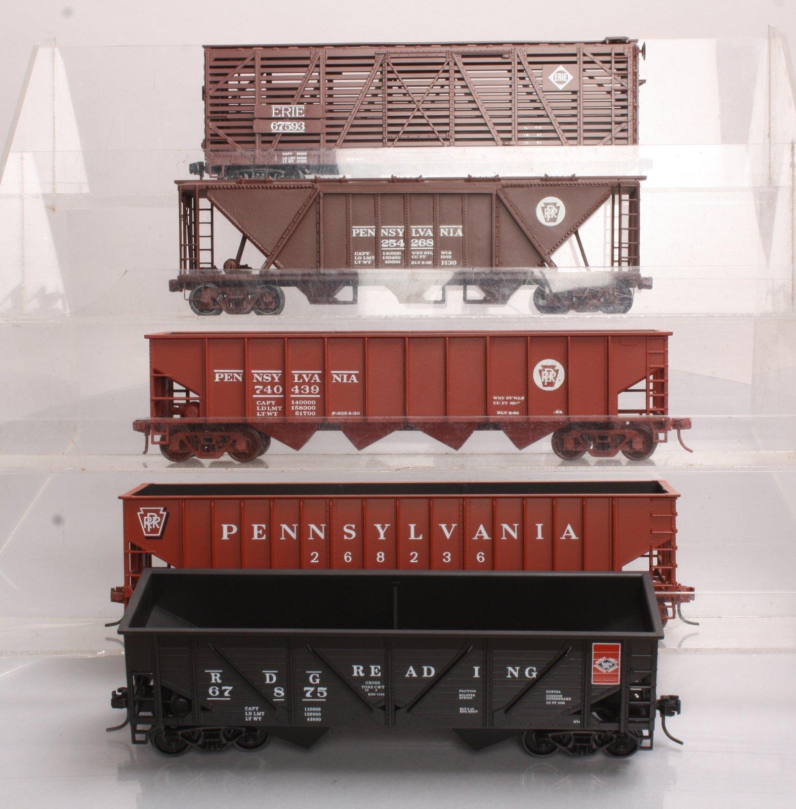 Pennsylvania, Erie & Reading O Scale 2-Rail Freight Cars