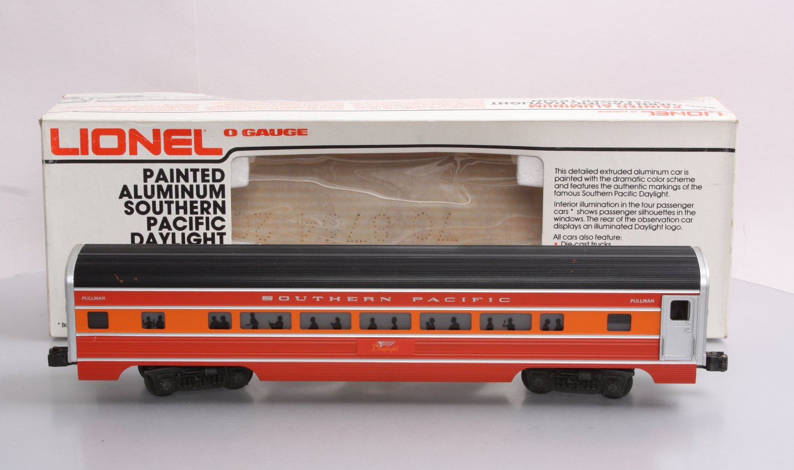 lionel 6 9592 southern pacific daylight aluminum passenger car ex box. Black Bedroom Furniture Sets. Home Design Ideas