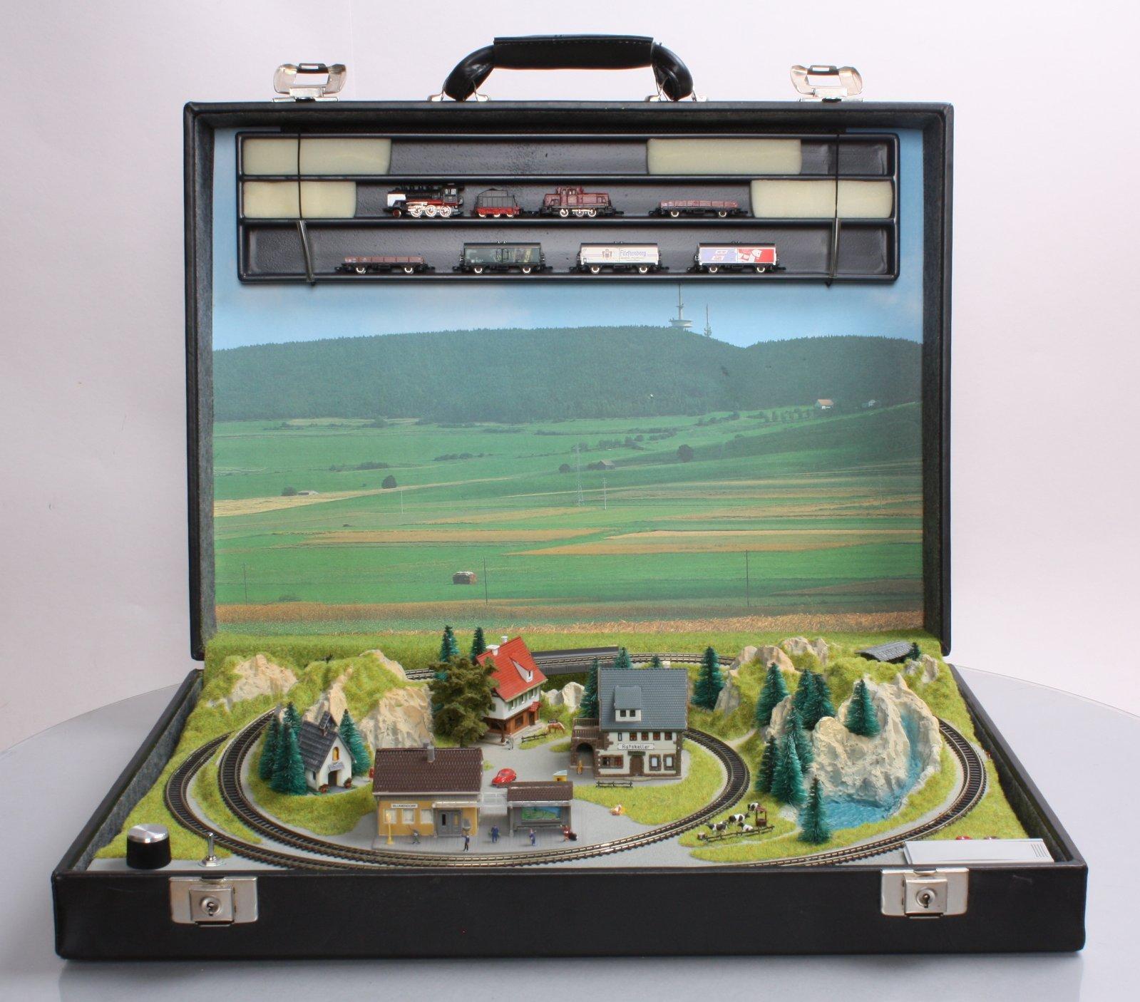 Marklin z scale briefcase layout w train set ln ebay