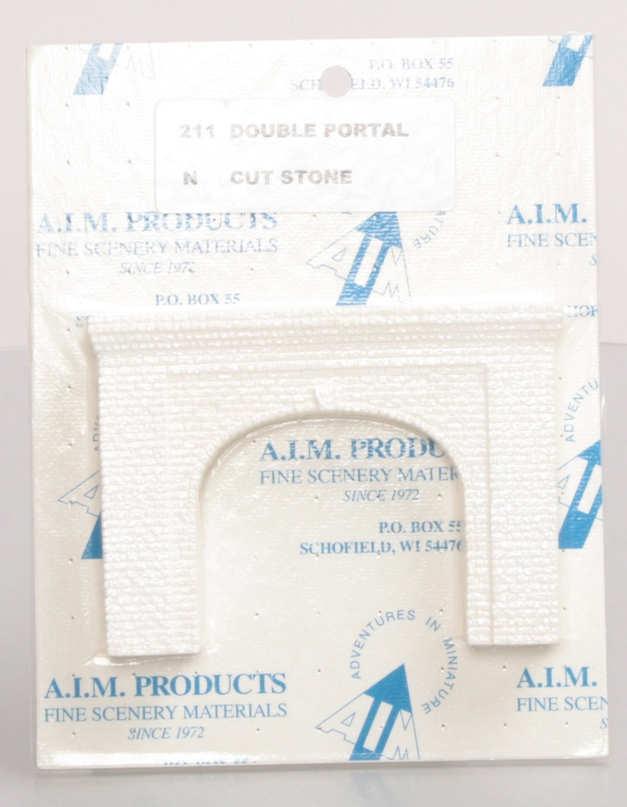 AIM 211 N Double-Track Tunnel Portal Cut Stone
