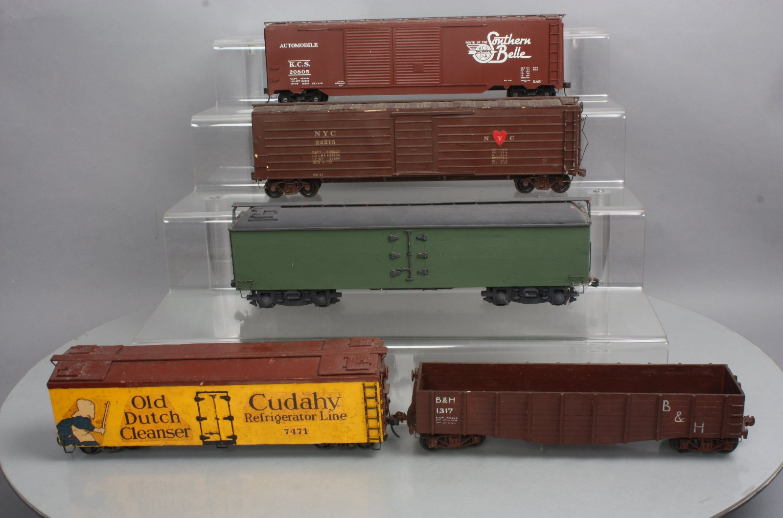 Wooden Rail Cars ~ Custom built wooden o scale freight cars kcs nyc b h