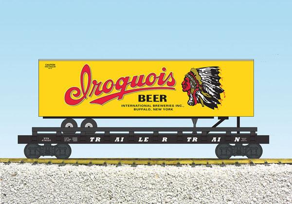 ahorra hasta un 50% USA Trains R17048 G Iroquis cerveza cerveza cerveza Piggy Back Plana Coche, Amarillo/trasera  garantizado