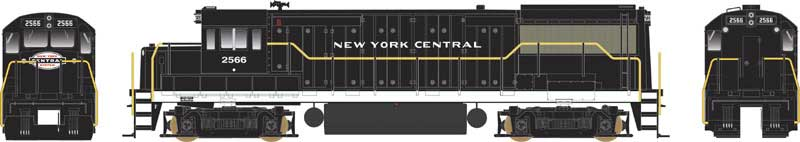Bowser 24536 HO New York Central U-25B Phase IV Diesel Loco Standard DC