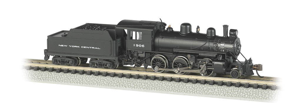 N New York Central Alco 2-6-0 Steam Loco & Tender w/DCC - Bachmann 51752