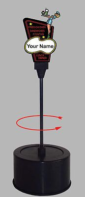 HO/O Drive-In Double-Sided Rotating Sign - Miller Engineering 55085