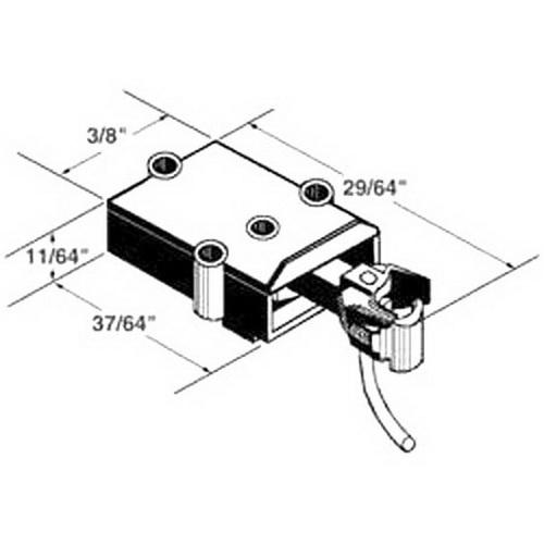 Kadee 807 On3 Scale Coupler Draft Gear Box Black