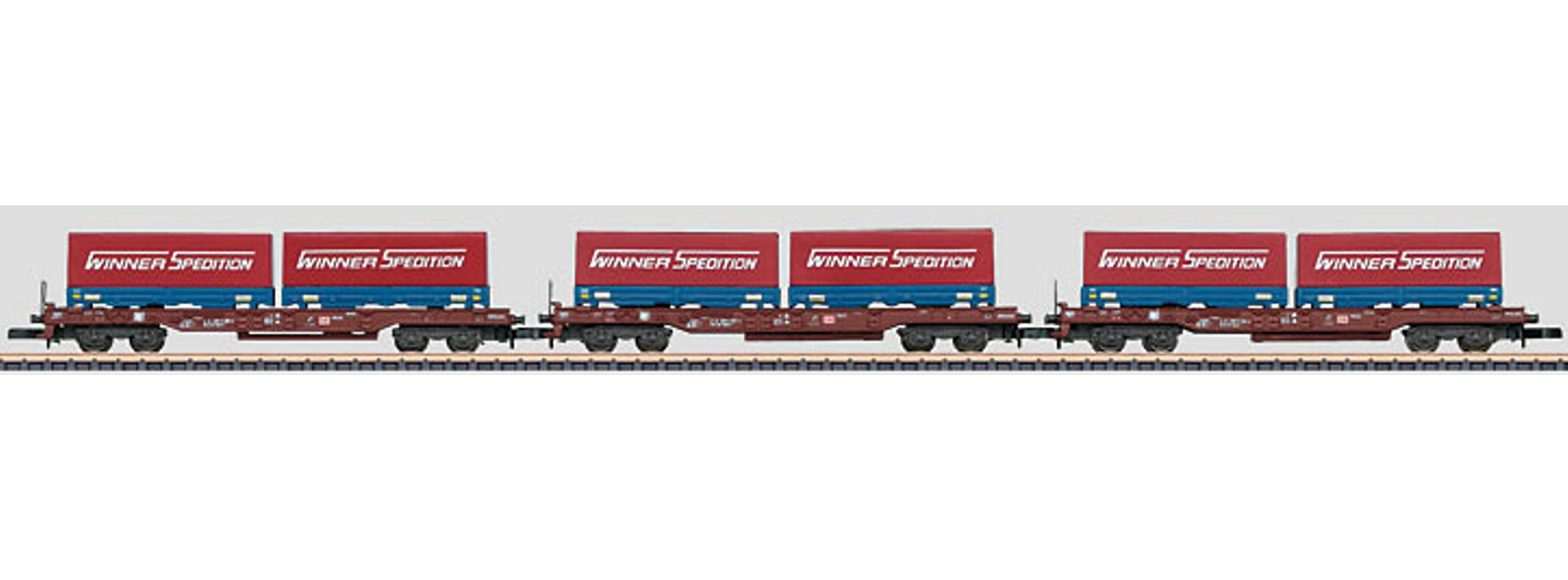 Marklin 82286 Z Deep Well Flat Car Set