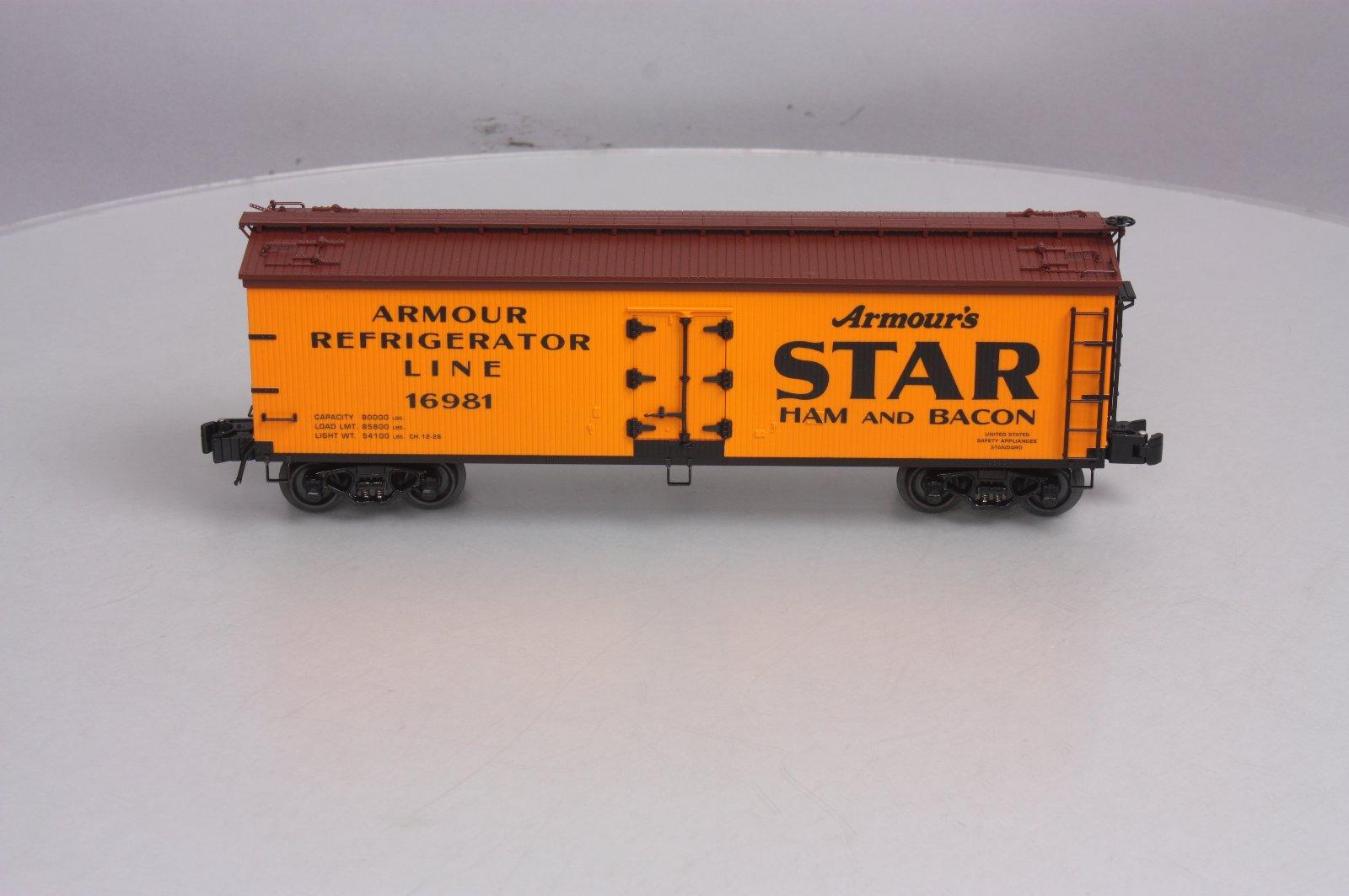 ✅K-LINE ARMOUR STAR HAM /& BACON WOOD SIDE REEFER CAR NEW!