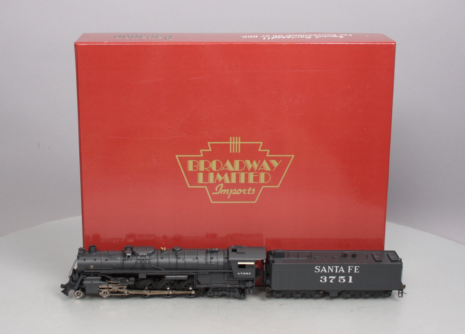Broadway Limited 045 HO Scale ATSF 4-8-4 Steam Locomotive  3751 w/QSI Sound LN