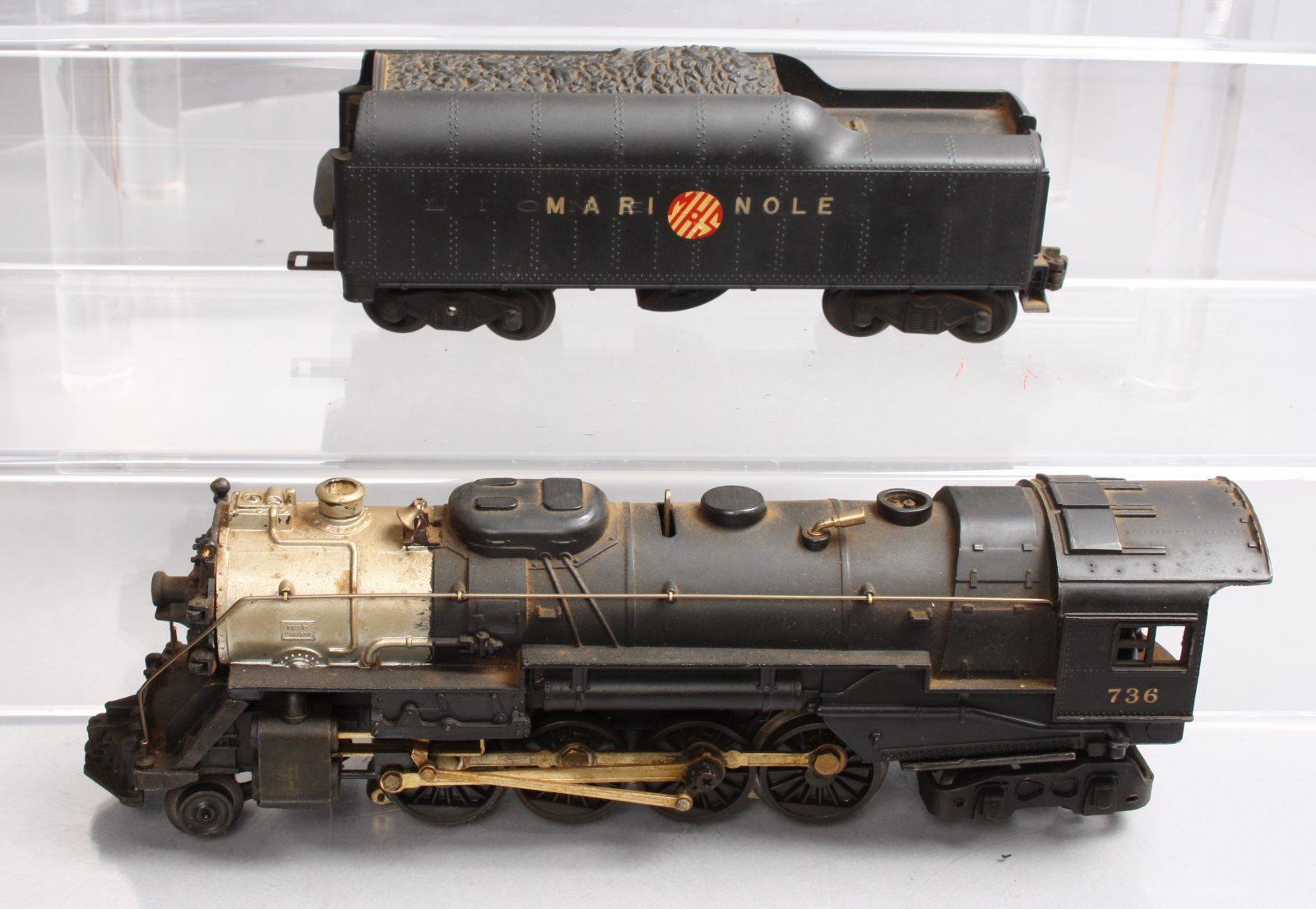 Lionel 736 2-8-4 Berkshire Steam Locomotive w/2046W Tender   eBay
