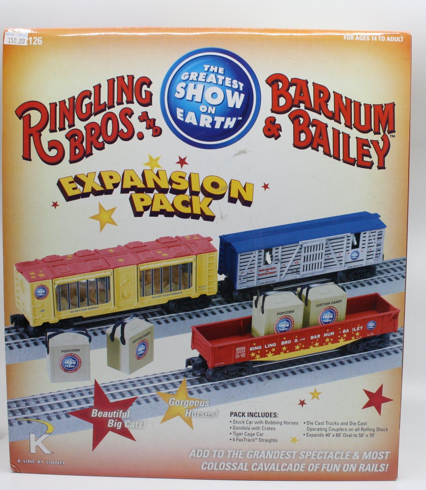 Lionel 6-22126 o Ringling Bros-Paquete de expansión de tren de circo
